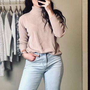 100% Silk Valerie Stevens Gentle Blush Sweater